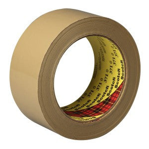 3M™ Scotch® Box Sealing Tape 371 Tan, 48 mm x 100 m, 12 pk.