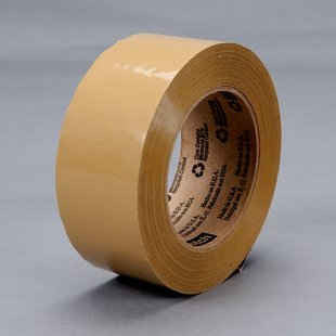 3M™ Scotch® Box Sealing Tape 371 Tan, 72 mm x 50 m, 12 pk.
