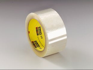 3M™ Scotch® Box Sealing Tape 373 Clear, 48 mm x 50 m, 6 pk.