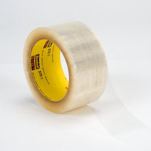 3M™ Scotch® Box Sealing Tape 375 Clear, 48 mm x 50 m, 6 pk.