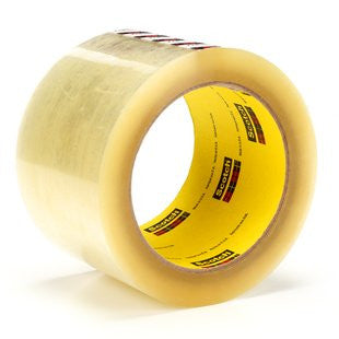 3M™ Scotch® Box Sealing Tape 375 Clear, 72 mm x 50 m, 6 pk.