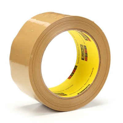3M™ Scotch® Box Sealing Tape 375 Tan, 48 mm x 50 m, 6 pk.