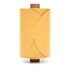 3M™ Stikit™ Gold Paper Disc Roll 216U, 5 in. x NH P320 Grit, 175 Discs (1 Roll)