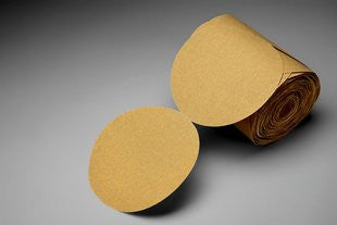 3M™ Stikit™ Gold Paper Disc Roll 216U, 6 in. x NH P320 Grit, 175 Discs (1 Roll)