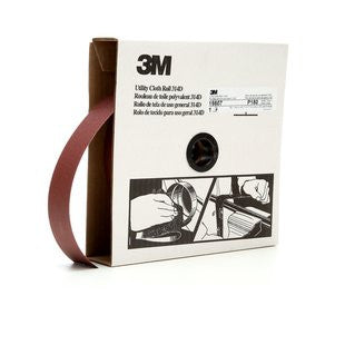 3M™ Utility Cloth Roll 314D, 1-1/2 in. x 50 yd. P180 Grit, 5 pk.