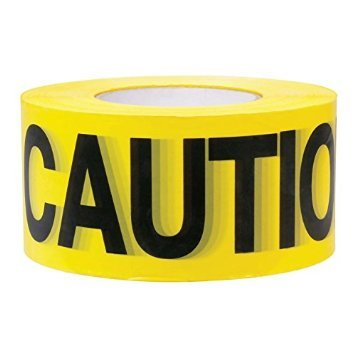 Empire Levels 1000 ft. x 3 in. Caution Barricade Tape