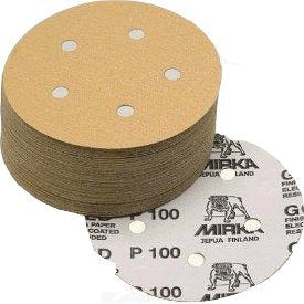 Mirka Gold 5 in. 5 Hole Grip Vacuum Disc 400 Grit, 50 pk.