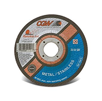 CGW Quickie Cut-Off Wheel, Type 1, 36 Grit, 4 1/2 in. 10 pk.