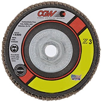 CGW Z3 XL Disc, Type 29, 36 Grit, 4 1/2 in. x 7/8 in. 5 pk.