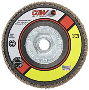 CGW Zirconia AO w/ Grinding Aid Turn-On Disc, 80 Grit, 2 in.