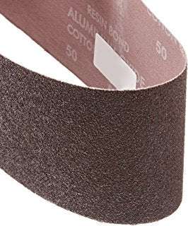 "Norton Sanding Belt, 21"" Length, 3"" Width, Aluminum Oxide, 60 Grit, Medium, Coated, R215 Metalite, 10 pk."