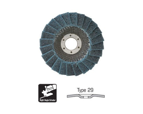 CGW Surface Conditioning Flap Disc, Type 29, Very Fine, 4 1/2 in.