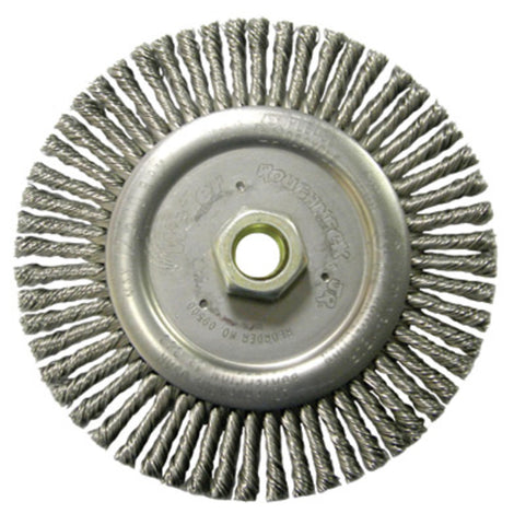"Weiler Roughneck Max Stringer Bead Wheels- 4"" Stringer Bead Brush (Carbon)"