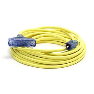 Century Wire Pro Glo Triple Tap 100 ft. Extension Cord (Yellow)