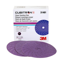 3M™ Cubitron™ II Clean Sanding Hookit™ Disc, 6 in. 220+ Grade, 50 pk.Liquid error (product-grid-item line 33): comparison of String with 0 failed
