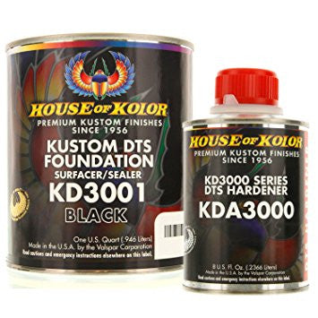 House of Kolor Black Epoxy Primer Kit, 1 Quart with 1/2 Pint Activator