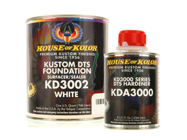 House of Kolor White Epoxy Primer Kit, 1 Quart with 1/2 Pint Activator