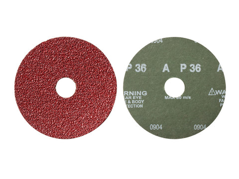 "Mercer 9"" x 7/8"" Resin Fibre Disc, 36 Grit, 25 pk."