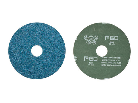 "Mercer 9"" x 7/8"" Zirconia, Resin Fibre Disc, 60 Grit, 25 pk."