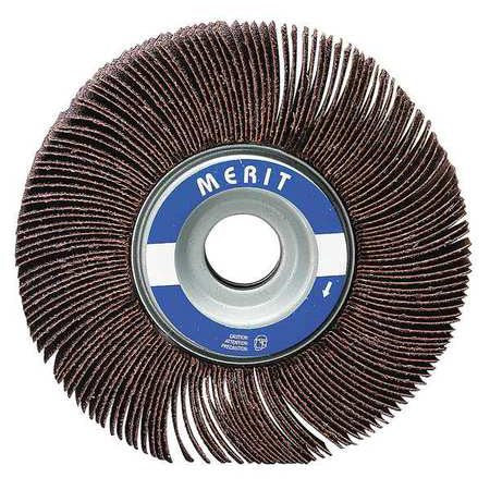 "Merit 2-1/2"" Mounted Abrasive Flap Wheel, Coated, 1"" Width, 1/4"" Shank Size, Aluminum Oxide, 120 Grit, 10 pk.Liquid error (line 13): comparison of String with 0 failed"