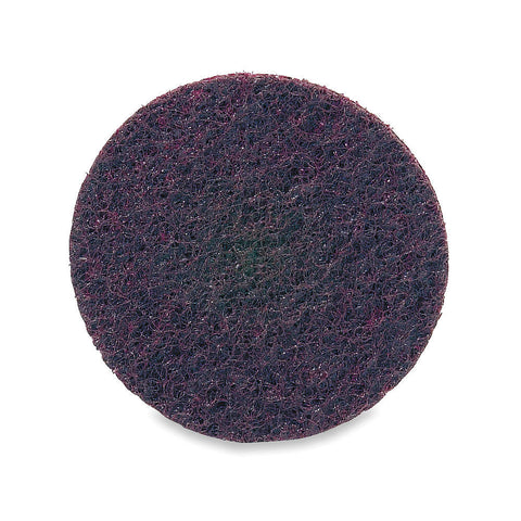 "Merit 2"" Quick Change Disc, Aluminum Oxide, Turn-On/Off, 80 Grit, Medium, Non-Woven, 50 pk."