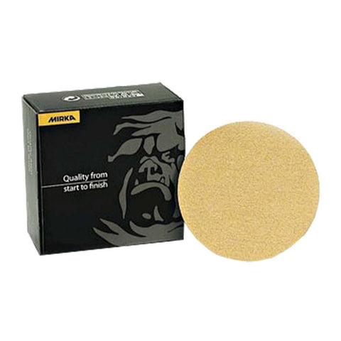 Mirka Gold 6 in. PSA Autobox Disc 120 Grit, 100 pk.