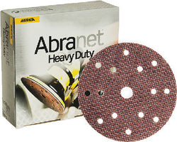Mirka Abranet Heavy Duty 6 in. 15 Hole Grip Disc 80 Grit, 25 pk.Liquid error (product-grid-item line 33): comparison of String with 0 failed