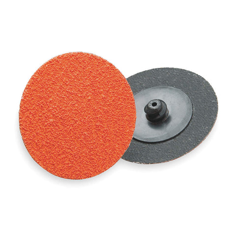 "Norton 1-1/2"" Quick Change Disc, Ceramic, TR, 50 Grit, Coarse, Coated, R980, 100 pk."