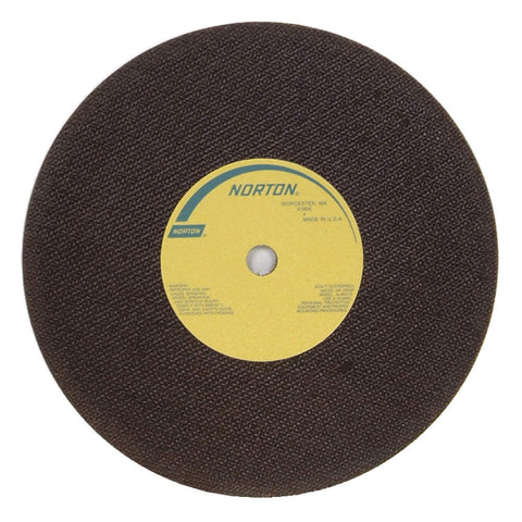 "Norton 10"" Type 1 Aluminum Oxide Abrasive Cut-Off Wheel, 5/8"" Arbor, 0.060""-Thick, 50 pk."