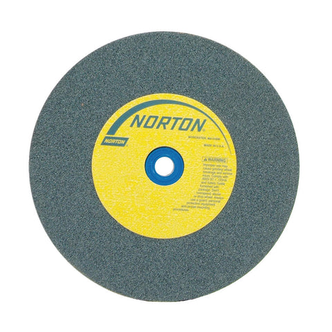 "Norton 12"" Type 1 Silicon Carbide Straight Grinding Wheel, 1-1/4"" Arbor, 2"" Thick, 60 Grit, 2070 Max. RPM"