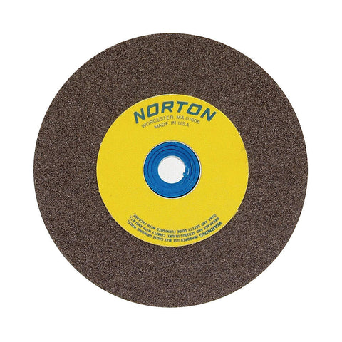 "Norton 12"" Type 1 Silicon Carbide Straight Grinding Wheel, 1-1/4"" Arbor, 2"" Thick, 80 Grit, 2070 Max. RPM"
