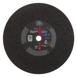 "Norton 14"" Type 1 Silicon Carbide Abrasive Cut-Off Wheel, 1"" Arbor, 7/64""-Thick, 4365 Max. RPM, 10 pk.Liquid error (product-grid-item line 33): comparison of String with 0 failed"