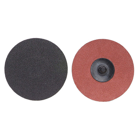"Norton 2"" Quick Change Disc, Aluminum Oxide, TR, 24 Grit, Extra Coarse, Coated, 100 pk."