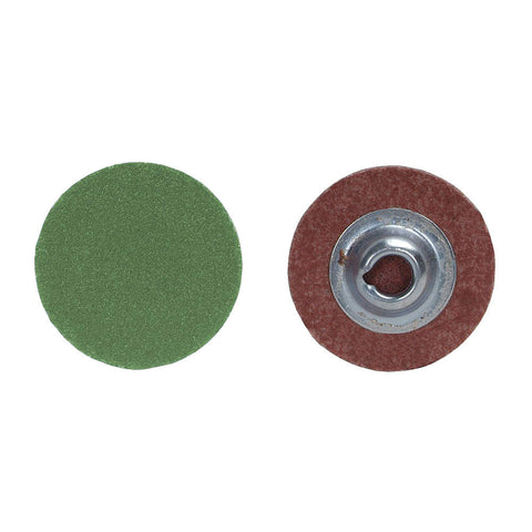 "Norton 2"" Quick Change Disc, Aluminum Oxide, Turn-On/Off, 36 Grit, Extra Coarse, Coated, R766, 100 pk."