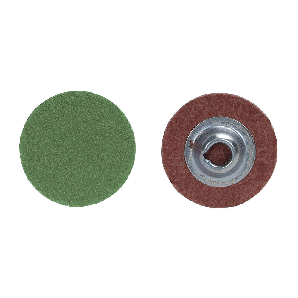 "Norton 2"" Quick Change Disc, Aluminum Oxide, Turn-On/Off, 60 Grit, Medium, Coated, R766, 100 pk."