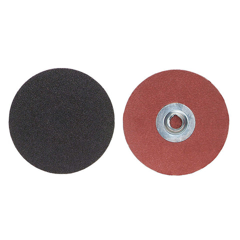 "Norton 2"" Quick Change Disc, Aluminum Oxide, Turn-On/Off, 80 Grit, Medium, Coated, 100 pk."
