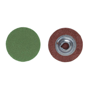 "Norton 3"" Quick Change Disc, Aluminum Oxide, Turn-On/Off, 40 Grit, Coarse, Coated, R766, 50 pk."