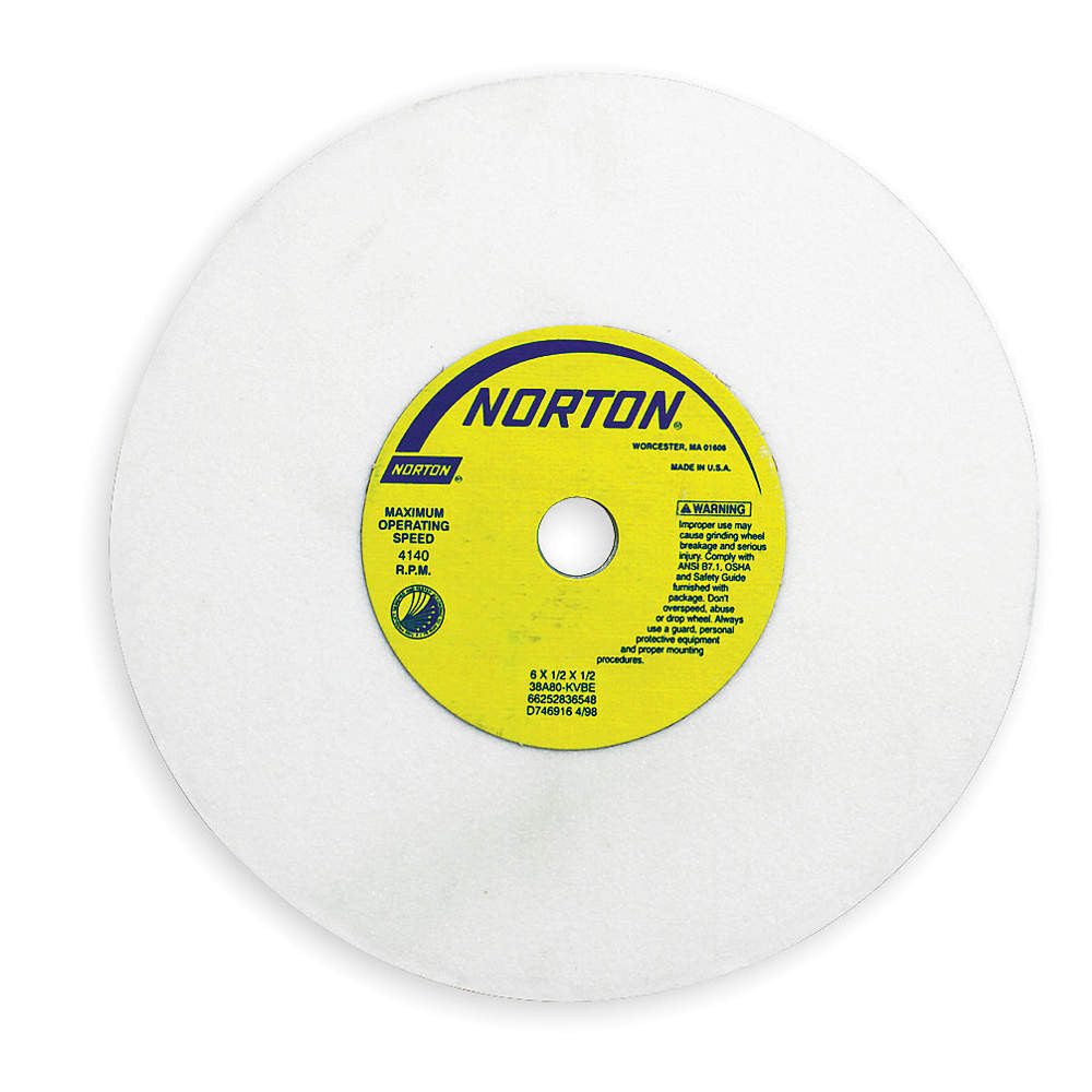 "Norton 4"" Type 11 Aluminum Oxide Flaring Cup Grinding Wheel, 1-1/4"" Arbor, 1-1/2"" Thick, 60 Grit, K"