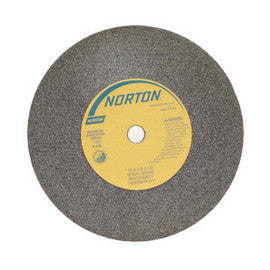 Norton 57A24-QVBE Bench Wheel, 18 in. x 3 in. x 1-1/2 in. 24 Grit, 2 pk.