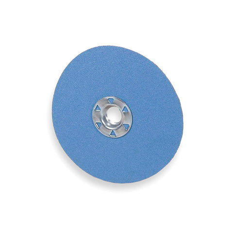 "Norton  5"" Fiber Disc, Zirconia Alumina, 24 Grit, 5/8"", Coated, Blue Fire, 25 pk."