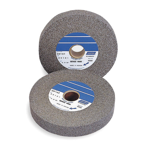 "Norton 6"" Convolute Wheel, 1"" Width, Aluminum Oxide, 1"" Arbor Hole, Medium, Hard (8), 1000, 3 pk."