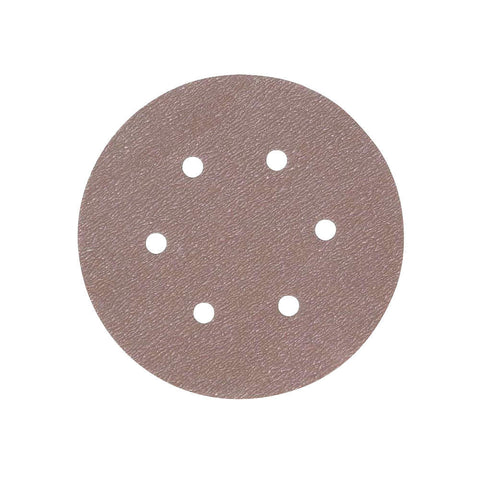 "Norton 6"" Hook-and-Loop Sanding Disc, Aluminum Oxide, 80 Grit, Medium, Coated, A275, 100 pk."
