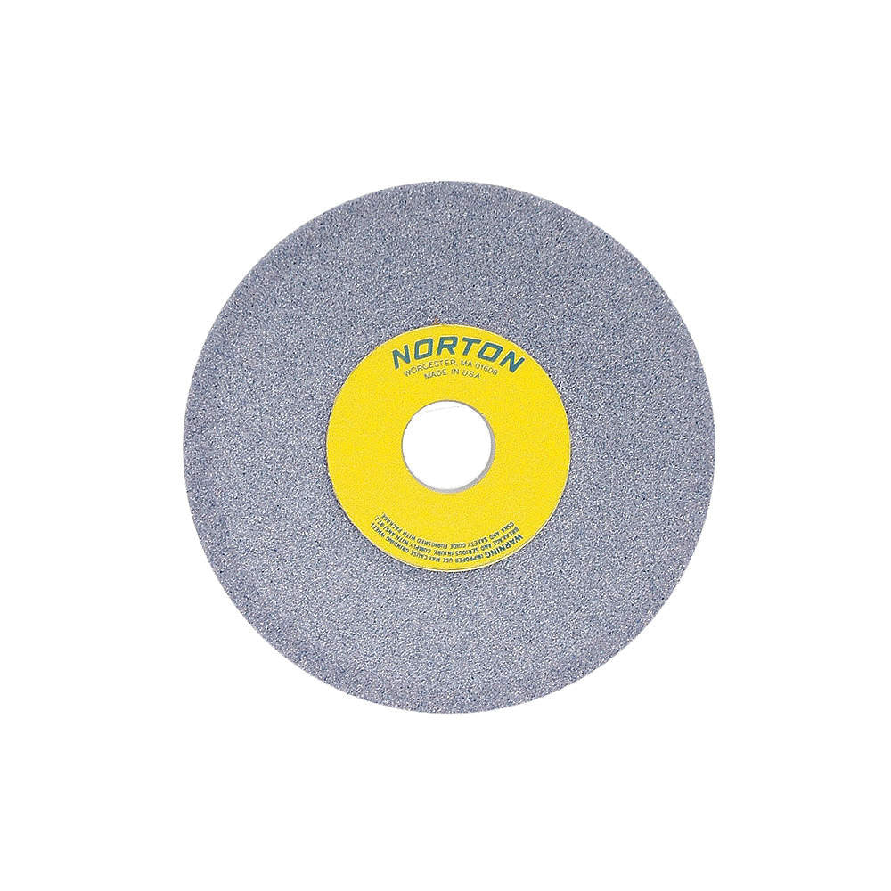 "Norton 6"" Type 12 Aluminum Oxide Dish Grinding Wheel, 1-1/4"" Arbor, 1/2"" Thick, 60 Grit, J"