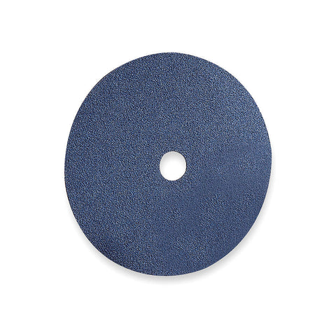 "Norton 7"" Fiber Disc, Zirconia Alumina, 80 Grit, 7/8"", Coated, Blue Fire, 25 pk."
