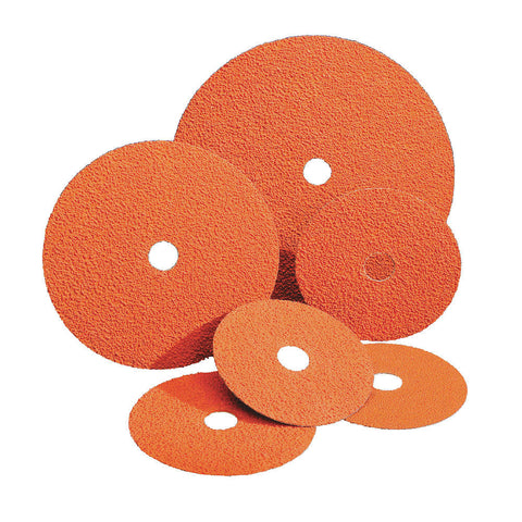 "Norton 9-1/8"" Fiber Disc, Ceramic, 50 Grit, 7/8"", Coated, F980, 25 pk."