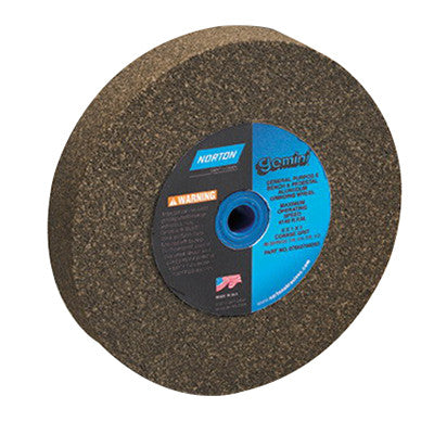 Norton Gemini Alundum Bench Wheel, 10 in. x 1 in. x 1-1/4 in. 24 Grit, Aluminum Oxide, 2 pk.Liquid error (line 13): comparison of String with 0 failed