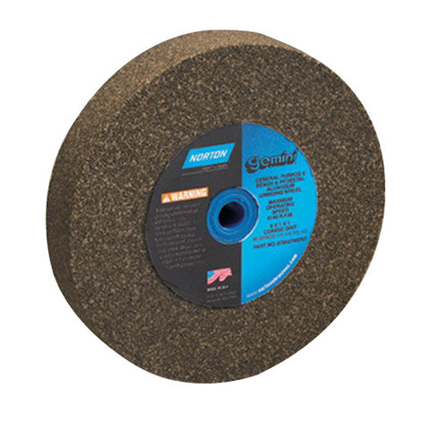 Norton Gemini Alundum Bench Wheel, 7 in. x 1 in. x 1 in. 36/46 Grit, Aluminum Oxide, 5 pk.Liquid error (line 13): comparison of String with 0 failed