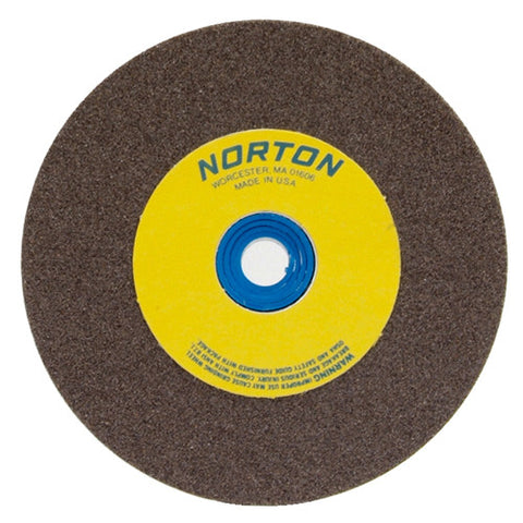 Norton Gemini Bench and Pedestal Wheel 5 in. x 1/2 in. x 1 in. 100 Grit, Aluminum Oxide, 5 pk.