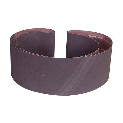 "Norton Sanding Belt, 108"" Length, 6"" Width, Aluminum Oxide, 80 Grit, Medium, Coated, R215 Metalite, 10 pk."