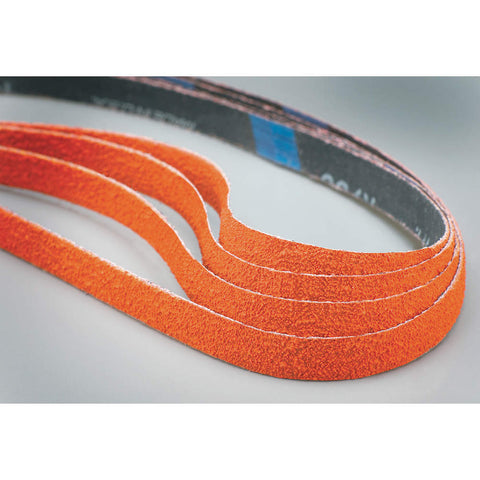 "Norton Sanding Belt, 12"" Length, 1/2"" Width, Ceramic, 40 Grit, Coarse, Coated, R980P Blaze, 50 pk."